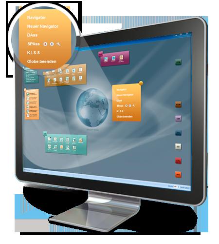 Der Navigator führt Sie durch SIDOUN Globe, ihre AVA-Software für höchste Ansprüche